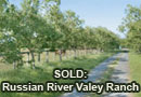 Sonoma County Russian River Valley Ranch Home Sold
